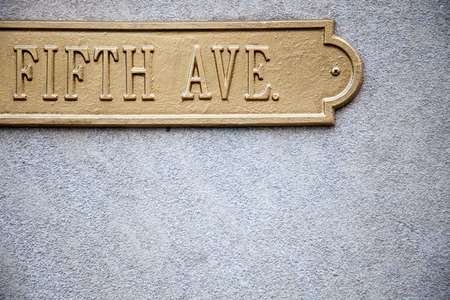 fifth: Fifth avenue sign with plenty of copy space Stock Photo