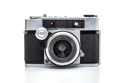 lomography: Retro 35mm camera. All on white background