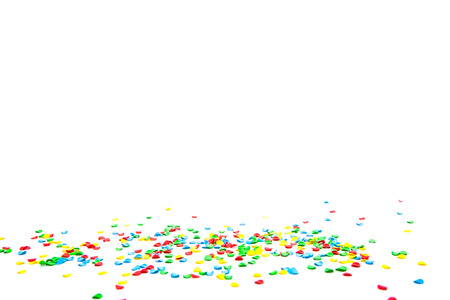 Party decoration on white background Standard-Bild