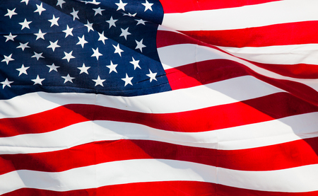 memorial day: Flag of the United States of America Stock Photo