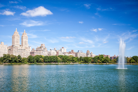 united states: Jacqueline Kennedy Onassis Reservoir in Central Park New York City
