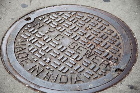 gully: New York City manhole cover
