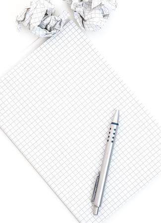 idea generation: Notepad and pen concept