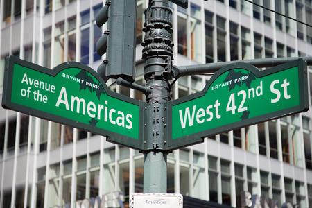 street sign: Street sign New York City