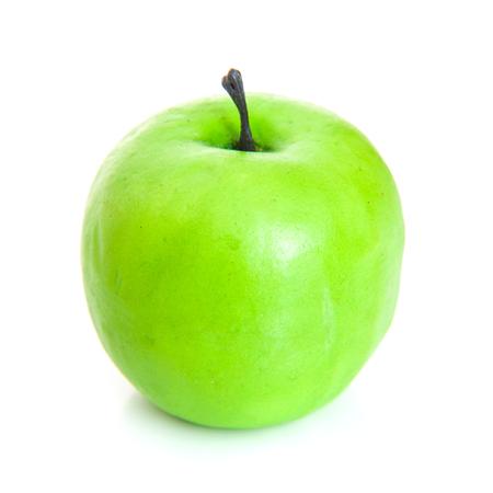 manzana verde: Verde manzana sobre fondo blanco