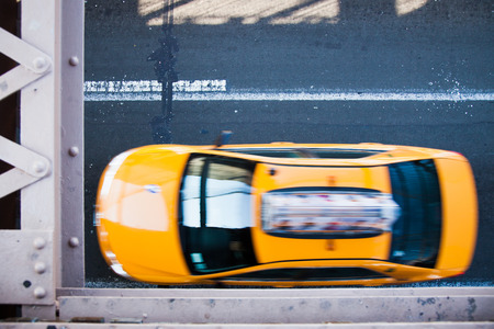 transportaion: Yellow cab on streets of New York City
