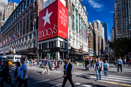 Famous Macy's store in New York City