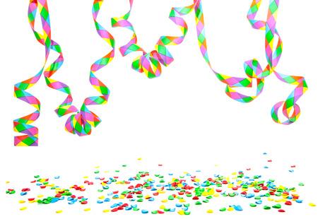joyeux anniversaire: Parti d�coration sur fond blanc