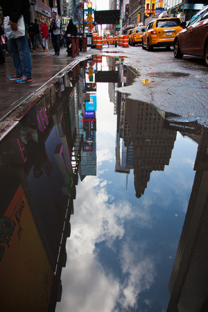 puddle: Bad weather in New York City