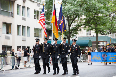 fifth avenue: 2014 German American Steuben Parade on Fifth Avenue in New York City Editorial