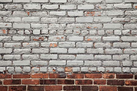 brick wall: Painted brick wall background texture