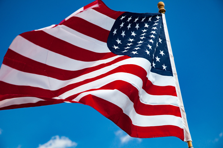presidency: Flag of the United States of America Stock Photo