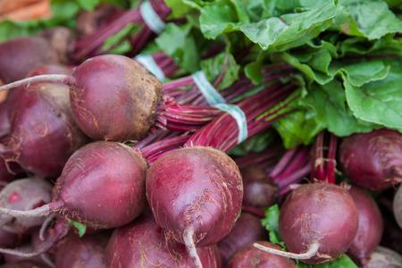 market stall: Fine grown beet offered at market stall