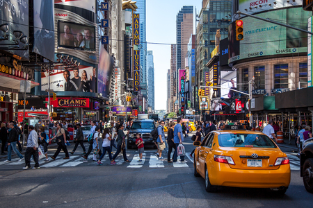 times square new york: 42nd street near Times Square New York City Editorial