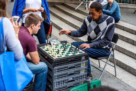 chess player: Chess player at Union Square in New York City Editorial