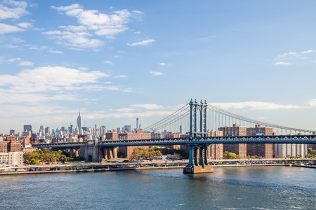 manhattan bridge: Manhattan Bridge seen from Brooklyn Stock Photo