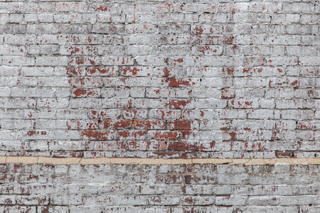 brick wall: Old painted brick wall background