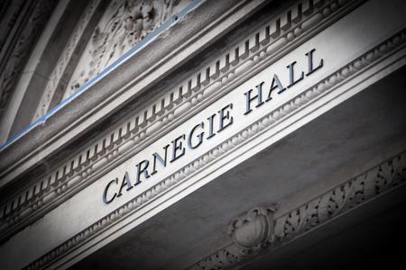 Carnegie Hall New York City 免版税图像