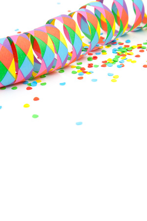 fasching: Party decoration on white background.