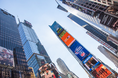 times square new york: Billboards at Times Square New York City