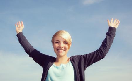 scandinavian descent: Portrait of an attractive teenage girl Stock Photo
