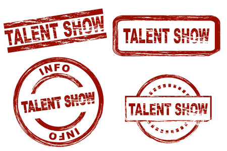 talent show: Set of stylized stamps showing the term talent show. All on white background. Stock Photo