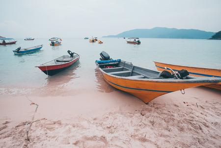 Perhentian Island boat at seaside for rental