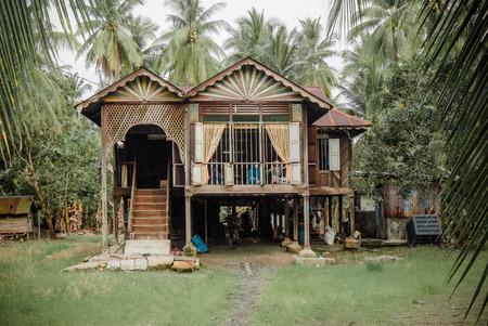 Malaysisches Dorfhaus Standard-Bild