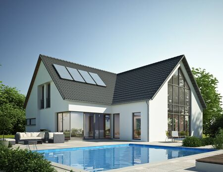 Modern house with pool 2