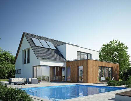 Casa moderna con piscina 1