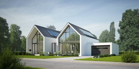 Modern semi-detached house