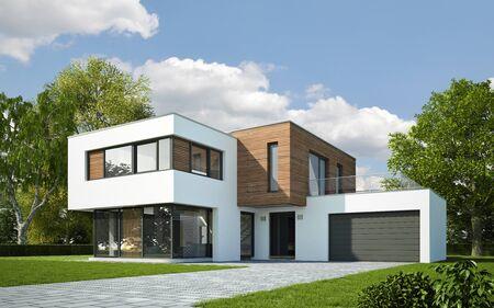 Casa moderna con garaje