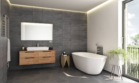 Modern bath room Stockfoto