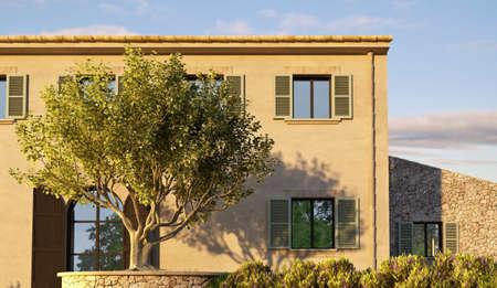 Mediterranean villa Imagens