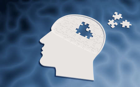 Icon head dementia Imagens