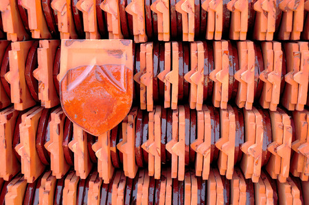 surmounted: be surmounted with a thai-style roof  Stock Photo