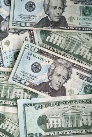 twenty dollar bills Stock Photo - 1124896