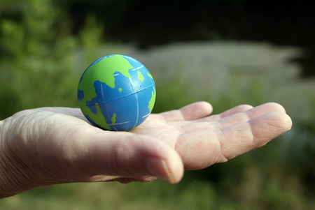 earth in the palm of hand Stock Photo - 1489198