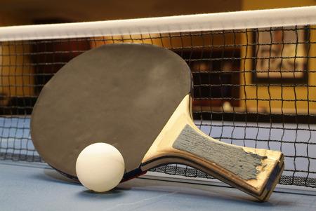 tischtennis: Tischtennis Ball und Paddel