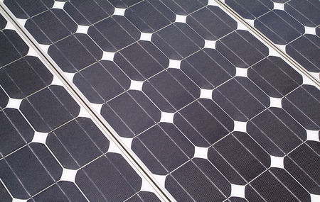 closeup of solar panels