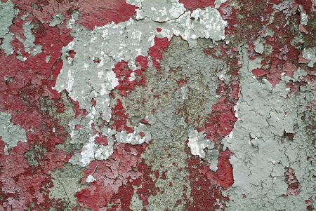 red and grey cracked paint grunge wall background