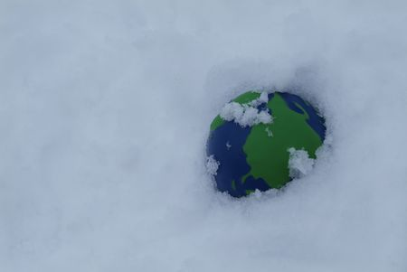 earth covered in snow and ice Stock Photo - 2300147