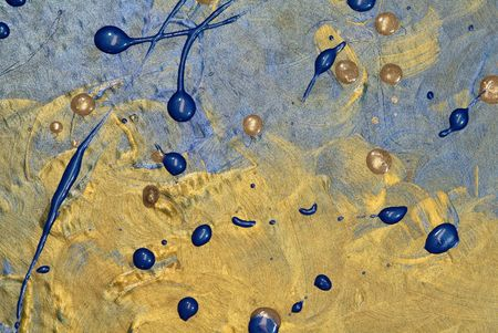 grunge textures: photo of blue and gold paint texture background
