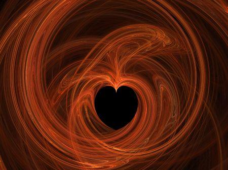 corazon: orange abstract heart illustration