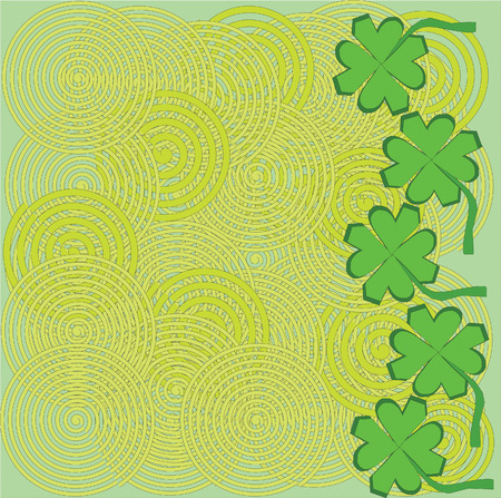 Saint Patricks day background illustration image Vector