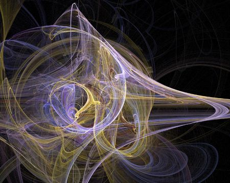 temporal: harmonic bird fractal temporal pattern Stock Photo