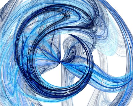 swirling: Bright blue swirling pattern background Stock Photo