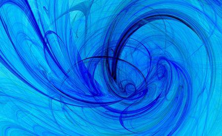twist: spiral twist blue background fractal image