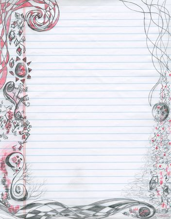 spiral doodles on notepaper