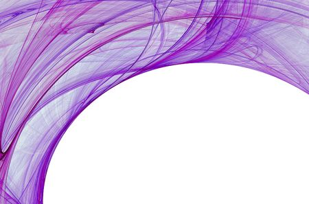 translucent: purple fractal border design image Stock Photo